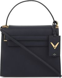 Valentino | Blue My Rockstud Grained Leather Satchel | Lyst