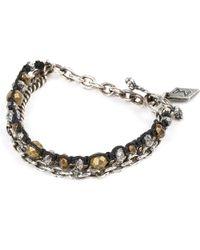 M. Cohen - Black Trebuchet Beaded Chain Bracelet - Lyst