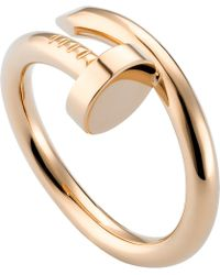 Cartier | Juste Un Clou 18ct Pink-gold Ring | Lyst
