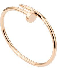 Cartier | Juste Un Clou 18ct Pink-gold Bracelet | Lyst
