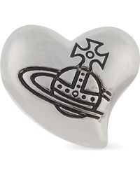 Vivienne Westwood - Black Caetano Single Heart Stud - Lyst