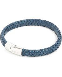 Tateossian - Blue Cobra Leather Bracelet for Men - Lyst