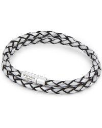 Tateossian   Metallic Double Wrap Leather Bracelet   Lyst
