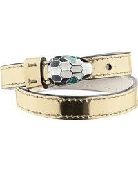 BVLGARI - Metallic Serpenti Double-coil Leather Bracelet - Lyst