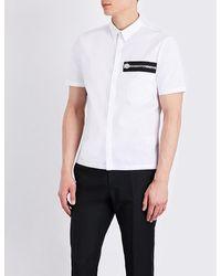 Versus | White Zip-detail Stretch-cotton Shirt for Men | Lyst