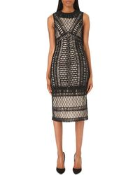Alice + Olivia - Black Nat Embellished Jersey Dress - Lyst