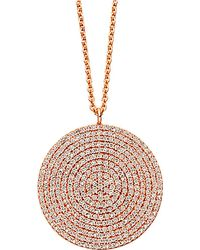 Astley Clarke - Pink Large Icon 14ct Rose Gold Pendant - Lyst