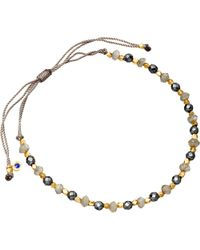 Astley Clarke - Metallic 18ct Gold Grey Cord Bracelet - Lyst