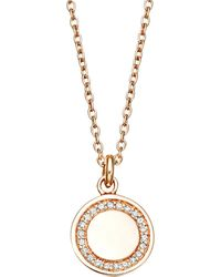 Astley Clarke | Pink Cosmos Diamond And 14ct Rose-gold Pendant Necklace | Lyst