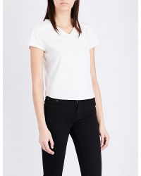 Maje   White Talia Cotton T-shirt   Lyst