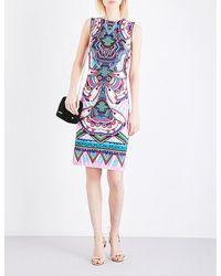 Roberto Cavalli | Multicolor Kaleidoscope-print Stretch-jersey Dress | Lyst