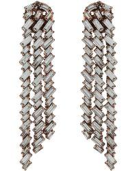 Erickson Beamon - Metallic War Of Roses Rose Gold-plated Crystal Earrings - Lyst