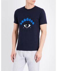 KENZO - Blue Eye-motif Cotton-jersey T-shirt for Men - Lyst