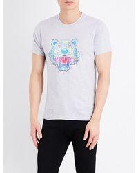 KENZO | Gray Tiger-motif Cotton-jersey T-shirt for Men | Lyst