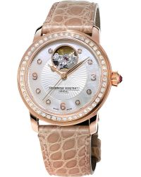 Frederique Constant - Metallic Fc-310hbad2pd4 Classics Heart Beat Rose Gold-plated Watch - Lyst