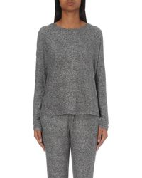 The Kooples   Gray Round-neck Jersey Top   Lyst