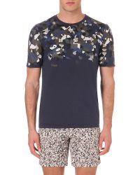 Fendi - Gray Camouflage-print Cotton T-shirt - Lyst
