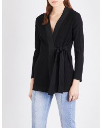 Sandro | Black Manon Knitted Cardigan | Lyst
