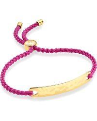 Monica Vinader | Pink Havana 18 Carat Rose Gold Plated Vermeil Friendship Bracelet | Lyst