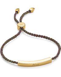 Monica Vinader | Metallic Linear 18ct Gold-plated Friendship Bracelet | Lyst