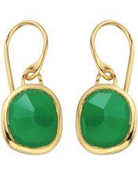 Monica Vinader | Vermeil Green Onyx Siren Wire Earrings | Lyst