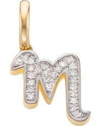 Monica Vinader - 18ct Yellow-gold Vermeil And Diamond Alphabet Pendant M - Lyst