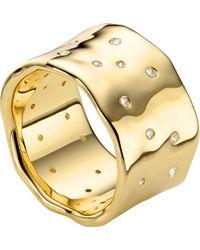 Monica Vinader   White Siren Scatter 18ct-gold Plated Ring   Lyst