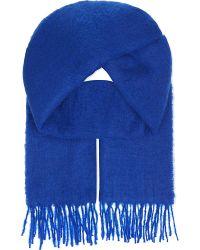 Maje | Blue Emilia Wool-blend Scarf | Lyst