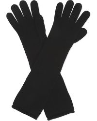 Johnstons | Black Long Cashmere Gloves | Lyst