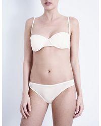 Bodas | Pink Sheer Tactel Strapless Balconette Bra | Lyst