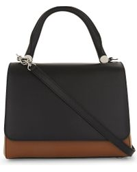 Max Mara | Black Leather Front Flap Tote | Lyst