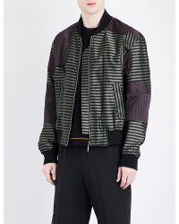 Wooyoungmi - Black Satin Bomber Jacket for Men - Lyst