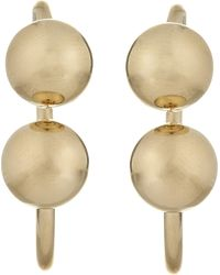 J.W.Anderson - Metallic Barbell Earrings - Lyst