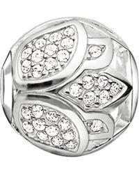 Thomas Sabo   Metallic Karma Beads Lotus Blossom Sterling Silver Bead   Lyst