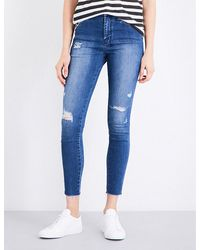 Ksubi | Blue High And Wasted Skinny High-rise Jeans | Lyst