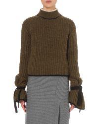 J.W.Anderson - Green Turtleneck Knitted Wool-blend Jumper - Lyst