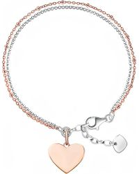 Thomas Sabo - Metallic 18ct Rose Gold And Sterling Silver Love Bridge Bracelet - Lyst