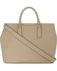Kurt Geiger | Natural Chelsea Leather Tote Bag | Lyst