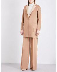 Max Mara   Natural Reversible Wool And Cashmere-blend Coat   Lyst