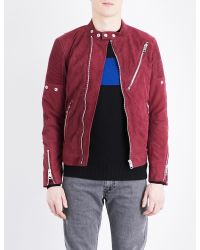 DIESEL | Red L-mackson Suede Jacket for Men | Lyst
