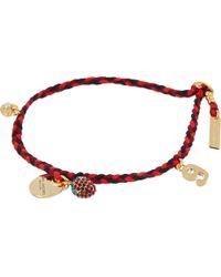 Marc Jacobs - Metallic Macramé Charm Bracelet - Lyst