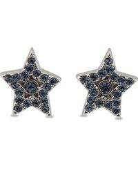 Marc Jacobs - Blue Tiny Star Pave Studs - Lyst