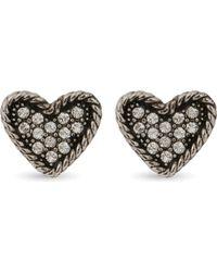 Marc Jacobs | Metallic Coin Heart Stud Earrings | Lyst