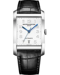 Baume & Mercier - Metallic M0a10054 Hampton Stainless Steel And Leather Watch for Men - Lyst