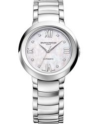 Baume & Mercier | Multicolor 10238 Promesse Stainless Steel And Diamond Watch | Lyst