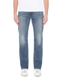 True Religion - Blue Ricky Relaxed-fit Straight-leg Jeans for Men - Lyst