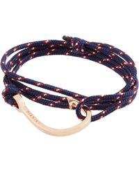 Miansai - Blue Rose Gold Rope Hook Bracelet - Lyst
