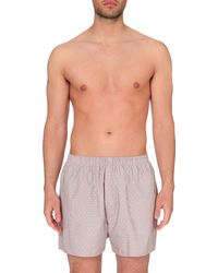 Sunspel | Multicolor Micro-patterned Cotton Boxers for Men | Lyst