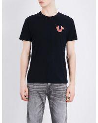 True Religion | Black Horseshoe Cotton T-shirt for Men | Lyst