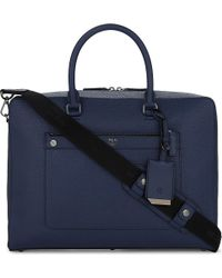 MCM - Blue Markus Medium Leather Briefcase - Lyst